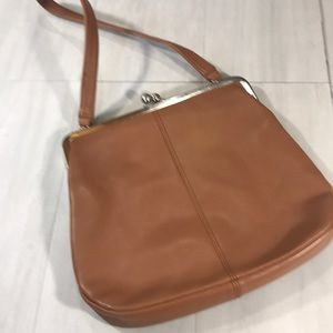 HOBO International tan kisslock bag